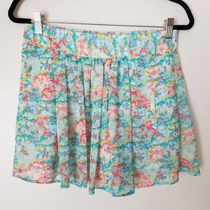Zara Basic Floral Casual Skirt- size M